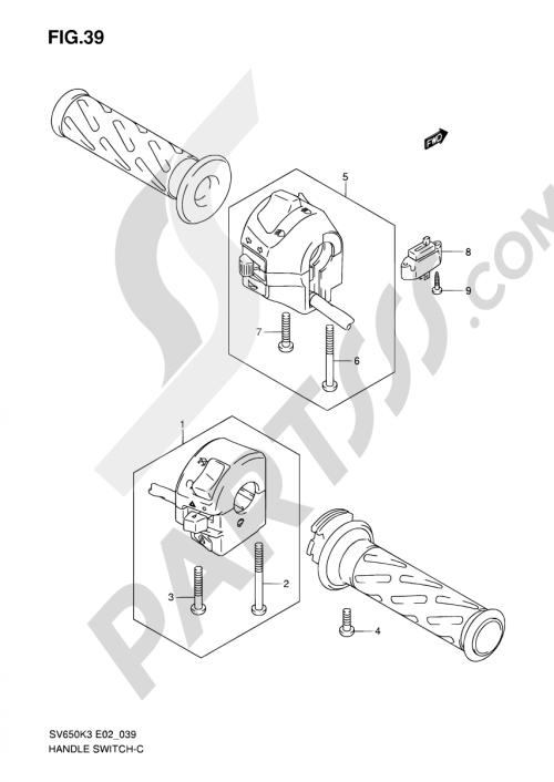 small resolution of 39 handle switch sv650k3 k4 k5 k6 k7 uk3