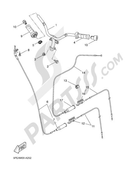 Yamaha AEROX R 2005 Dissassembly sheet. Purchase genuine