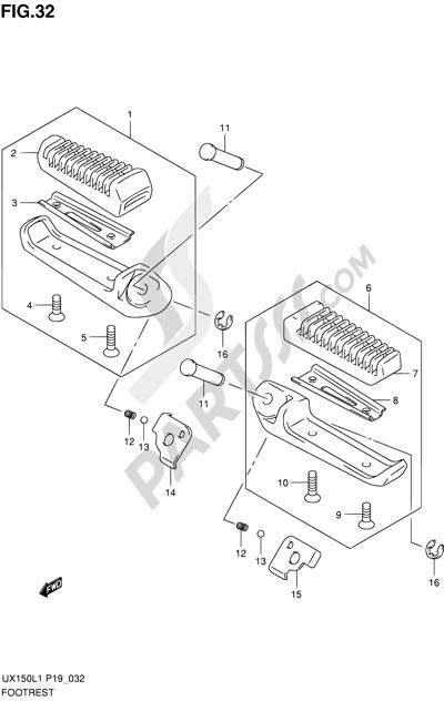 Suzuki SIXTEEN UX150 2011 Dissassembly sheet. Purchase