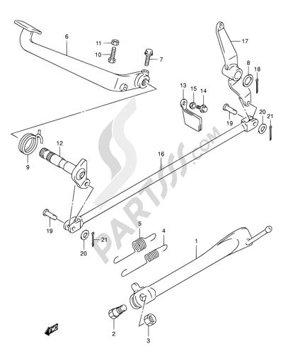 Suzuki INTRUDER VL250 2003. 分解図 純正部品をオンライン購入