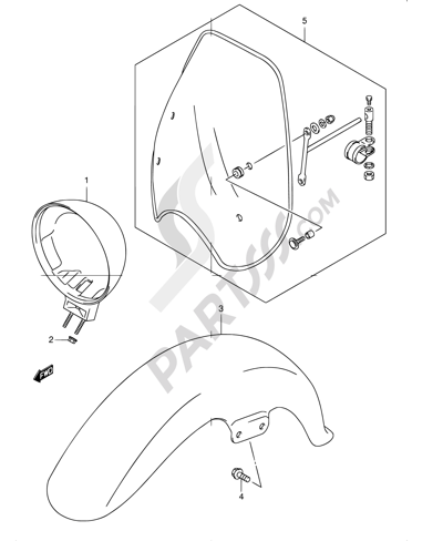 Suzuki INTRUDER VL250 2004. 分解図 純正部品をオンライン購入