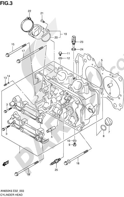 Suzuki BURGMAN AN650 2010 Dissassembly sheet. Purchase
