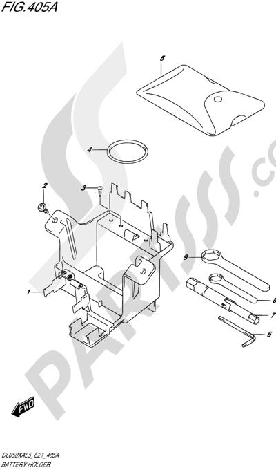 Suzuki VSTROM DL650XA 2015 Dissassembly sheet. Purchase
