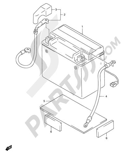 Suzuki DR650SE 2001 Dissassembly sheet. Purchase genuine