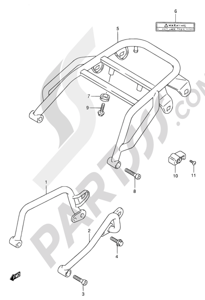 Suzuki DR650SE 1999 Dissassembly sheet. Purchase genuine