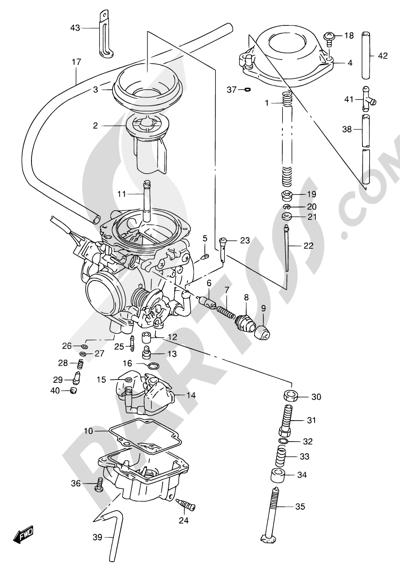 Suzuki DR650SE 1999 Dissassembly sheet. Purchase genuine