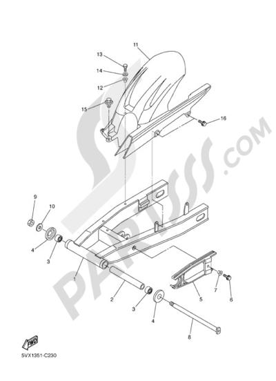 Sezionamenti di ricambi Yamaha FZ6 Fazer 2005. Compra on