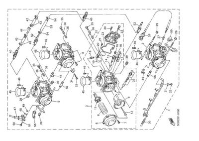 Yamaha YZF-R6 2002 Dissassembly sheet. Purchase genuine