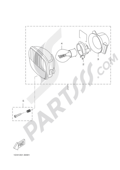 Yamaha DT50R 2004 Dissassembly sheet. Purchase genuine