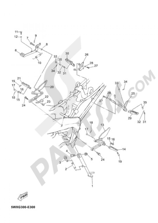 medium resolution of tzr50 2006 38 fig 30 soporte apoyapie 1000 png