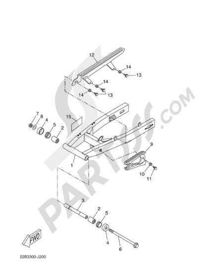Yamaha WR125R 2010. 分解図 純正部品をオンライン購入