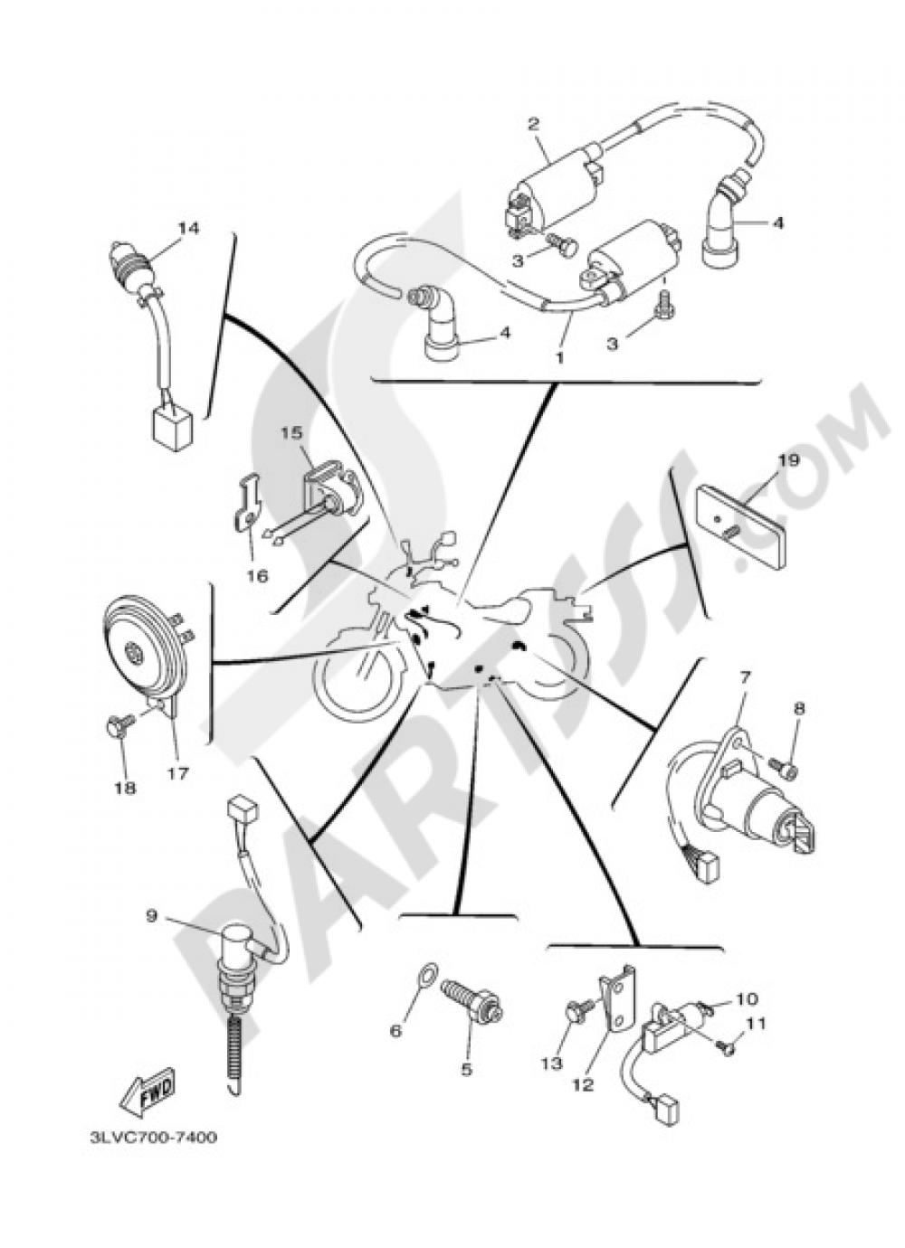 hight resolution of 2004 yamaha virago 250 wiring diagram