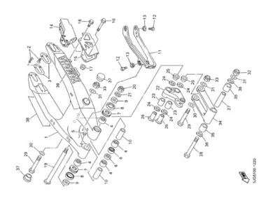 Yamaha YZ426F 2001 Dissassembly sheet. Purchase genuine