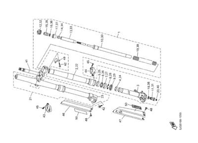 Yamaha YZ426F 2002 Dissassembly sheet. Purchase genuine