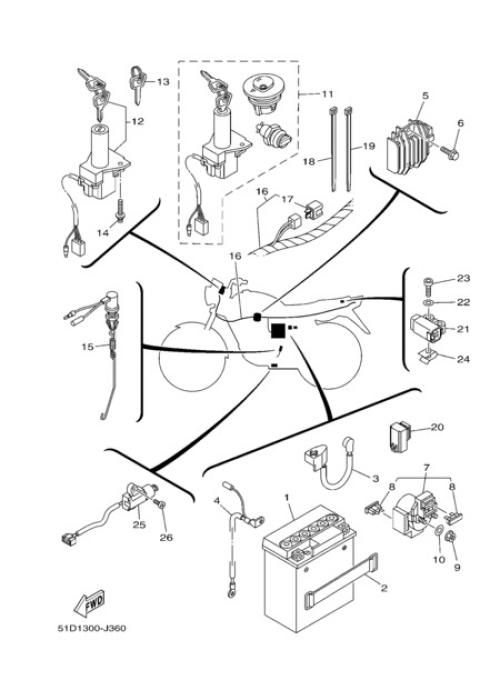 small resolution of electric equipment 1 yamaha ybr125 2012 rh partsss com yamaha ybr 125 fuse box yamaha ybr 125 custom