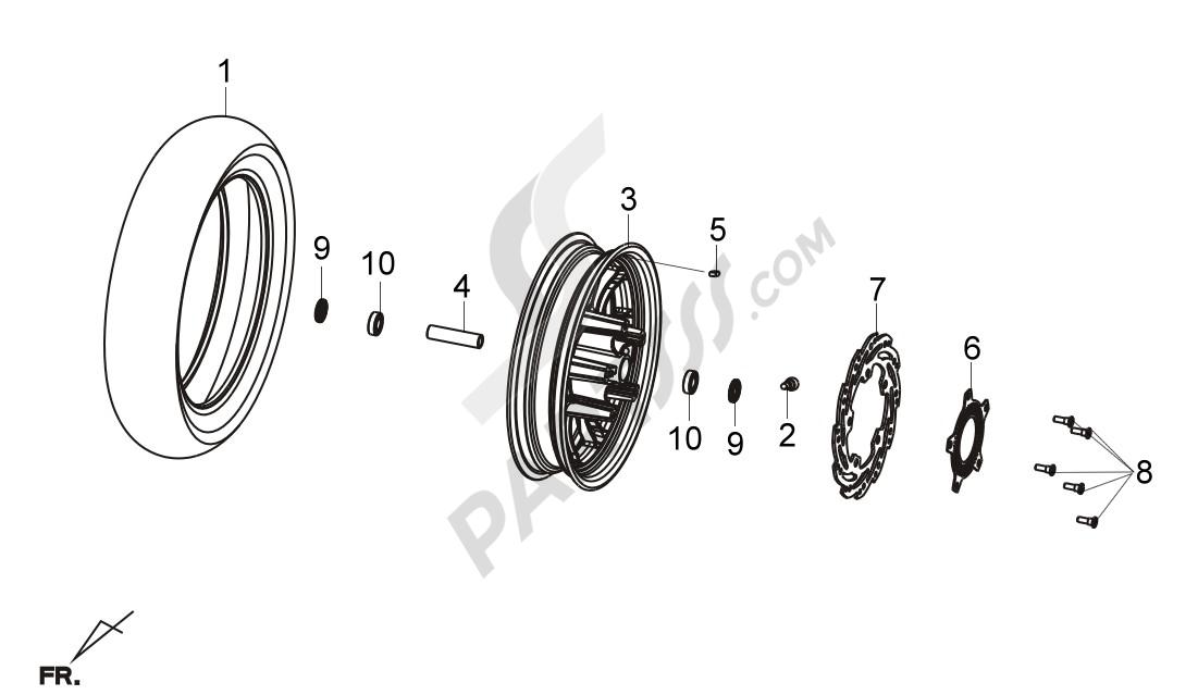 Sym JOYMAX 125 14. 分解図 純正部品をオンライン購入