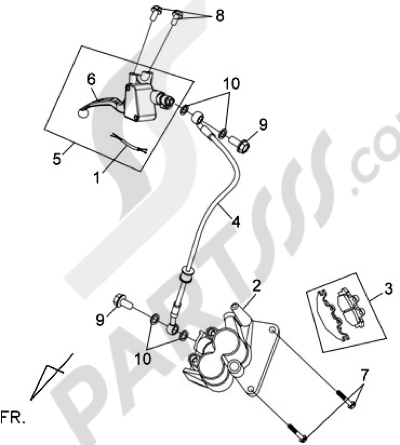 Sym COMBIZ 125 Dissassembly sheet. Purchase genuine spare