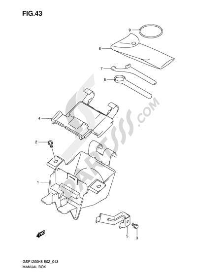 Suzuki BANDIT GSF1200SA 2006 Dissassembly sheet. Purchase