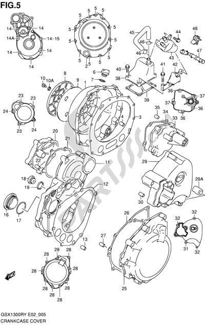 Suzuki HAYABUSA GSX1300R 1999. 分解図 純正部品をオンライン購入