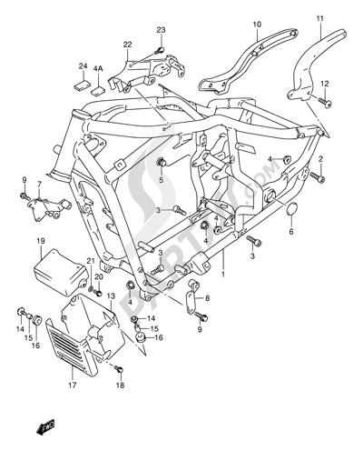 Suzuki INTRUDER VL1500 2004. 分解図 純正部品をオンライン購入