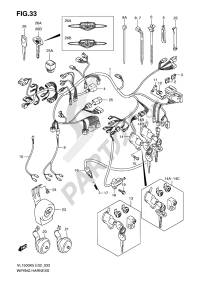 Suzuki INTRUDER VL1500 2006 Dissassembly sheet. Purchase