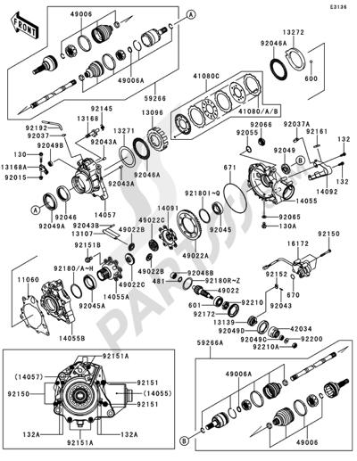Despiece Kawasaki BRUTE FORCE 750 4X4I EPS 2014