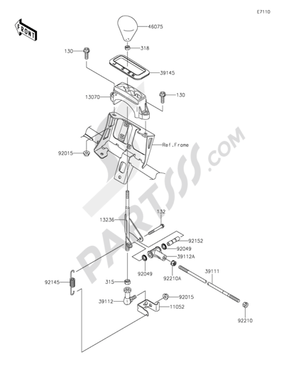 Kawasaki BRUTE FORCE 750 4X4I EPS 2015 Dissassembly sheet