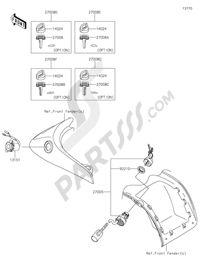 Despiece Kawasaki BRUTE FORCE 750 4X4I EPS 2015