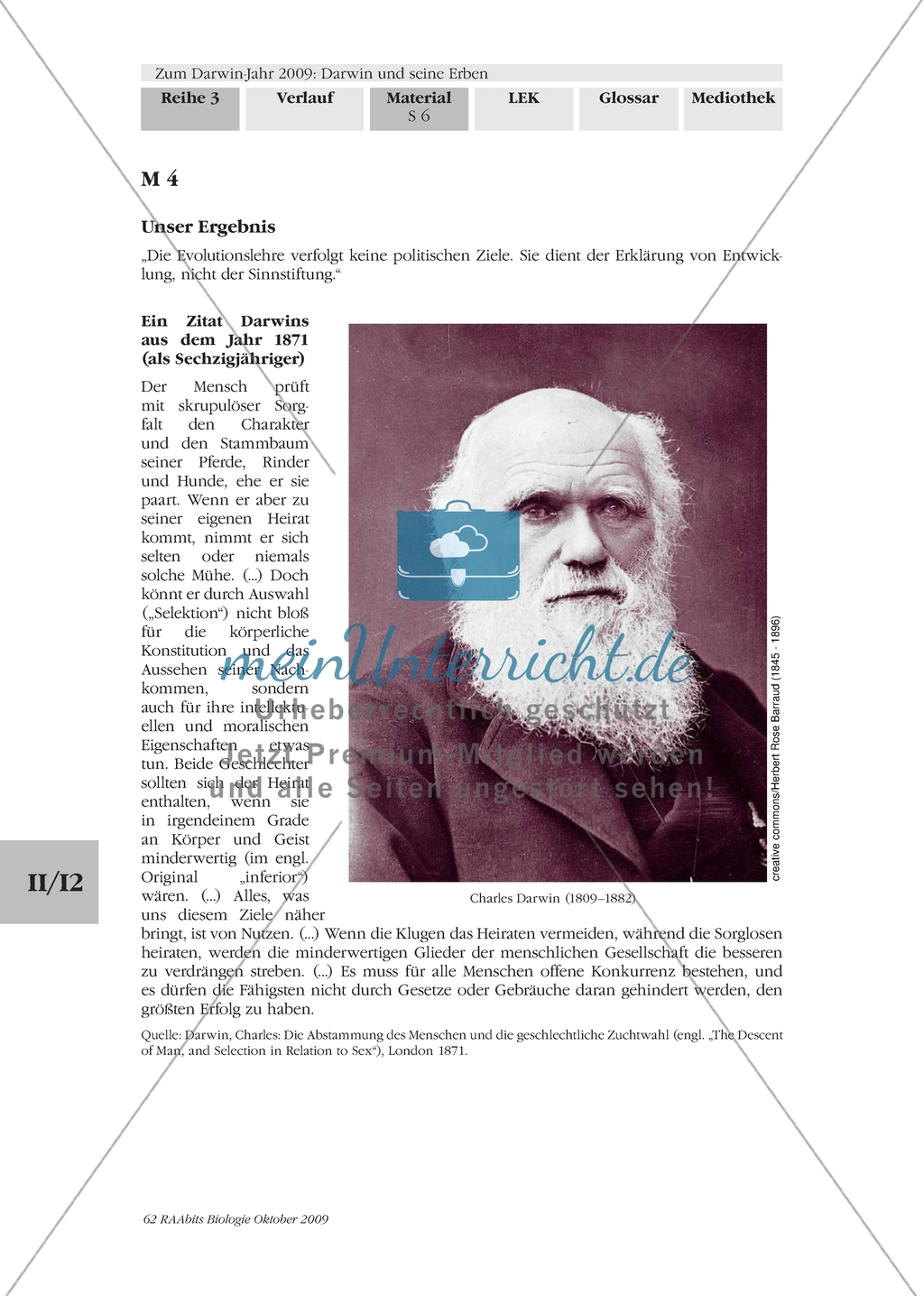 Erarbeiten Der Biographie Von Charles Darwin Mit Zugang