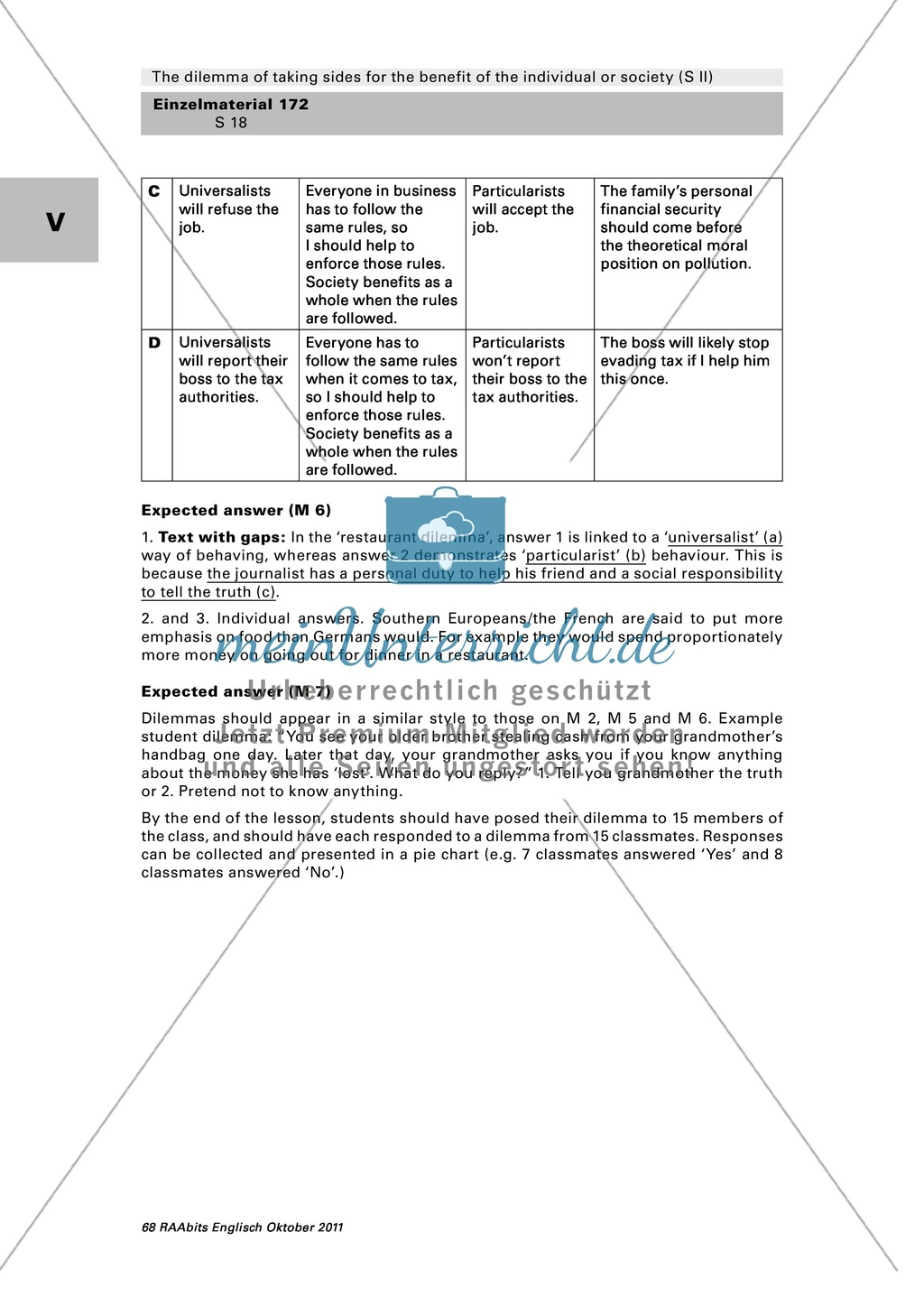 A Classroom Survey On Moral Dilemmas Worksheet With