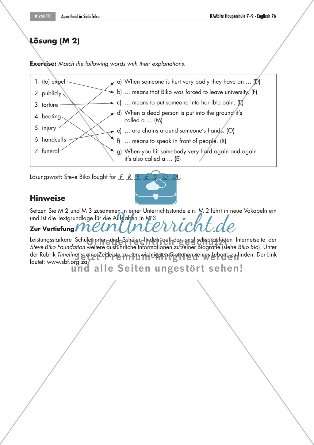 Apartheid South Africa Steve Biko S Story Worksheets And