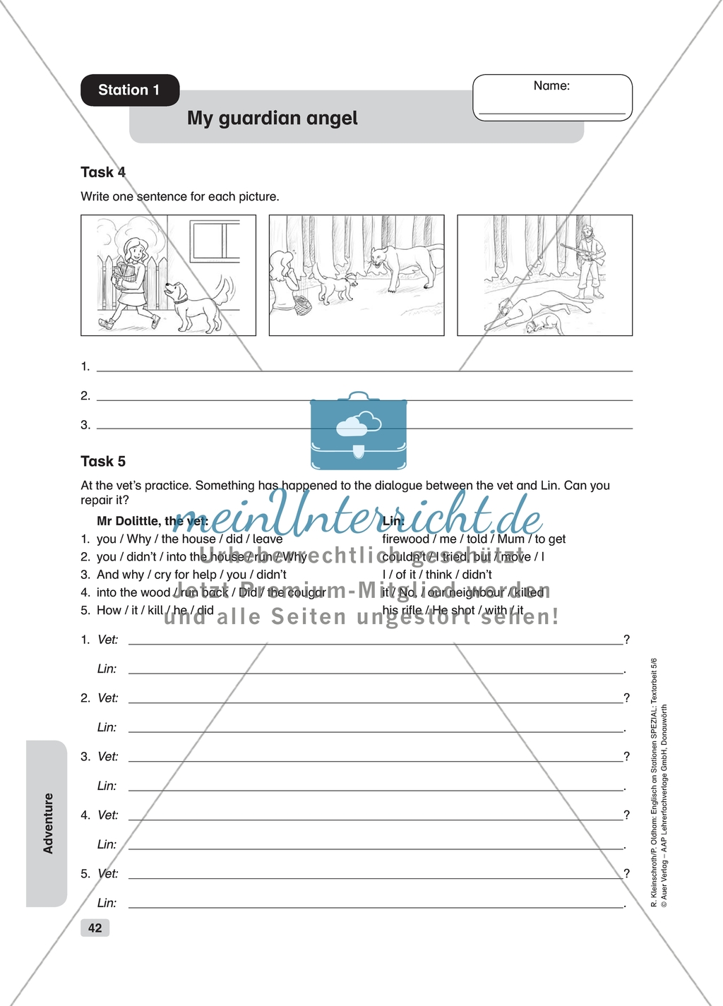 Text Work My Guardian Angel Worksheet And Solution