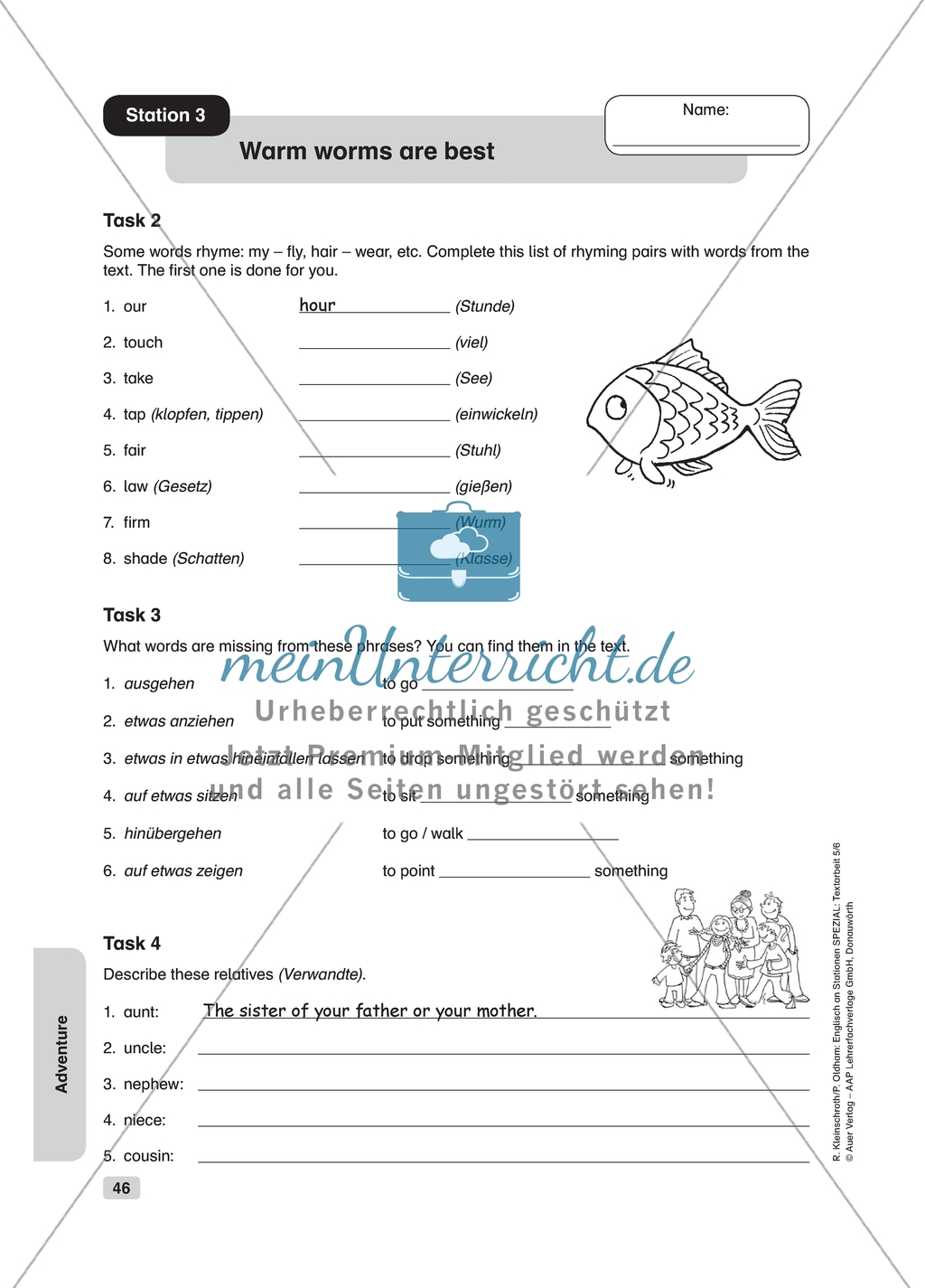 Text Work Warm Worms Are Best Worksheet And Solution