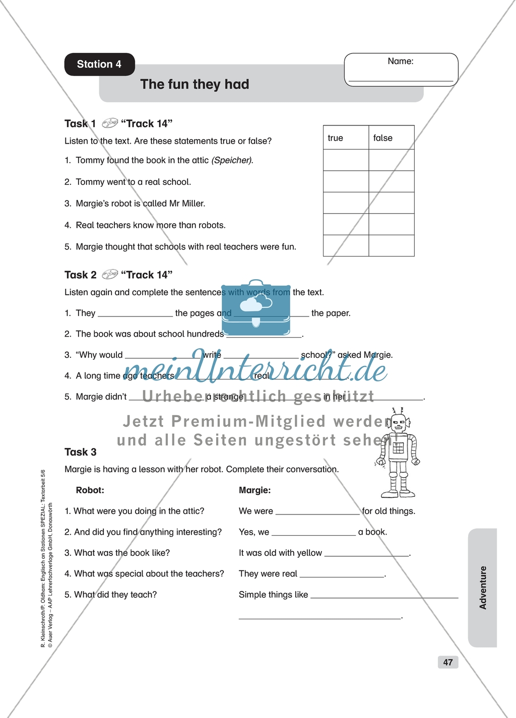Text Work The Fun They Had Worksheet And Solution