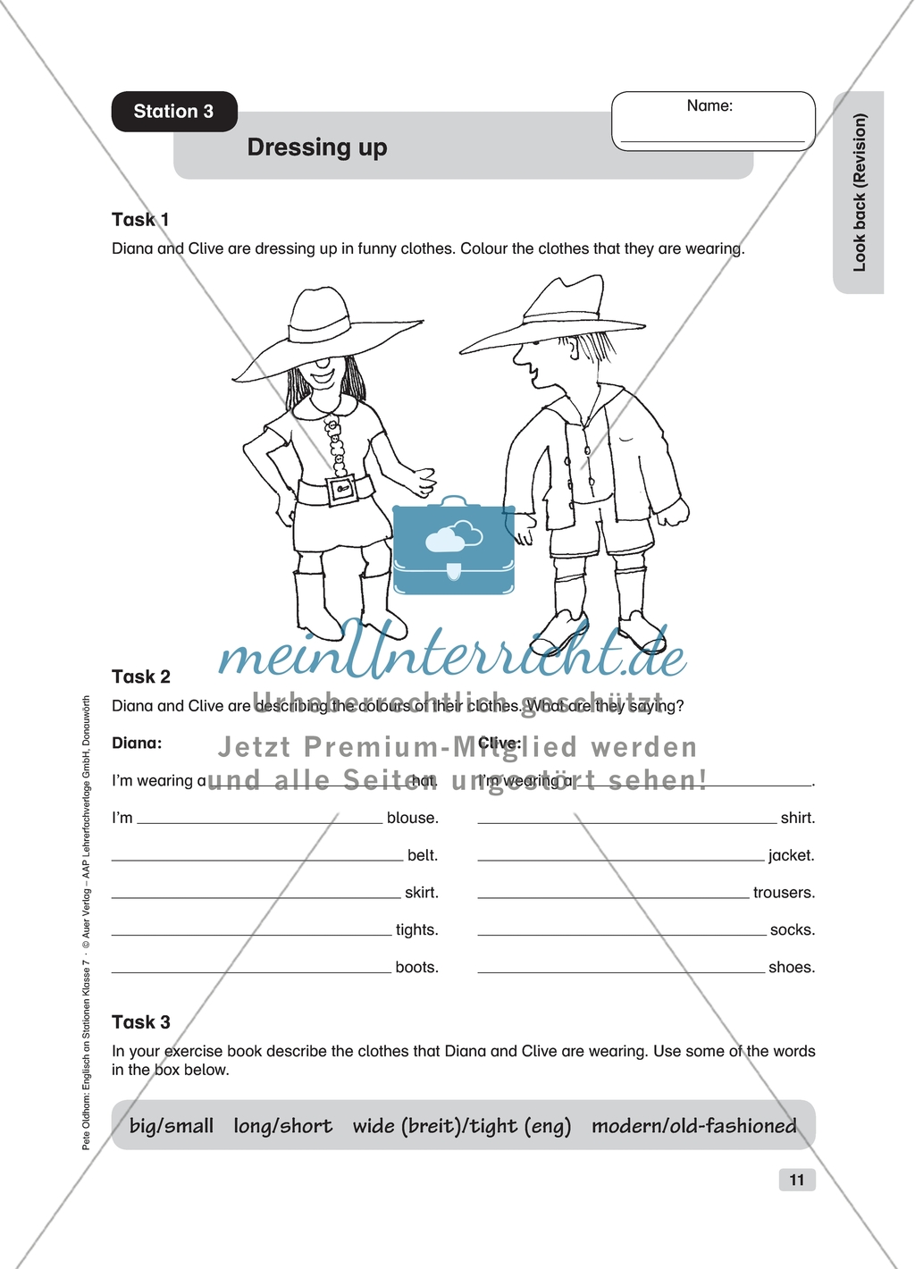 Dressing Up Revision Worksheet And Solution