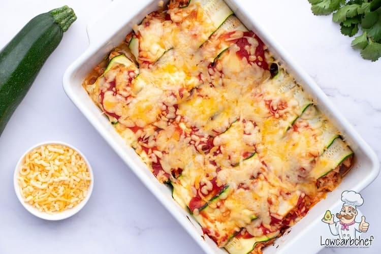 Enchiladas à base de courgettes.