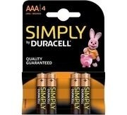 DURACELL SIMPLY ALC AAA 4T