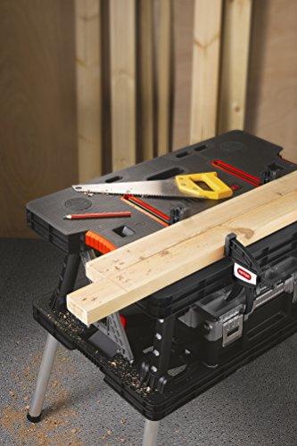 Tavola di lavoro multifunzione richiudibile portatile KETER con 2 morsetti colore: nero - 2