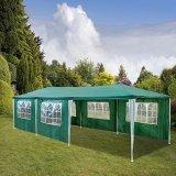 HG®Gazebo Tenda a cupola per le feste, in polietilene, con staffe in acciaio, con 6 pannelli laterali e 2 ingressi, impermeabile, con 6 lati rimovibili - 2