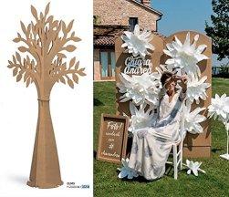 Le gemme di Venezia Albero della vita in cartone avana alto 2 metri allestimento matrimonio tableau mariage - 1