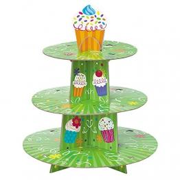 Unique Party Alzata per Cupcake 3 Livelli, Taglia USA 40102 - 1