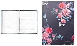 Diario scolastico Basic Flowers 2019/20, A5, calendario settimanale, 1 pezzo - 1