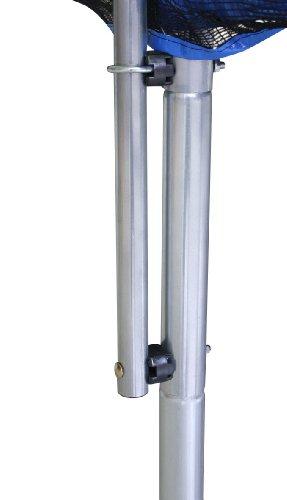 SixBros. SixJump 2,45 M Trampolino Elastico da Giardino Blu - Scaletta - Rete di Sicurezza - Copertura Anti-Pioggia - TB245/1609 - 4