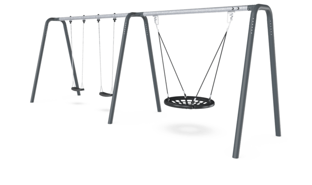 2 Bay Portal Swing 2,5 meters with Birds Nest Rope Seat