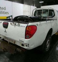 2014 mitsubishi l200 4work single cab di d 4wd 2477cc rear end parts diesel manual 5 speed pick up at car transplants ltd road three due to close sun 2nd  [ 1600 x 1200 Pixel ]