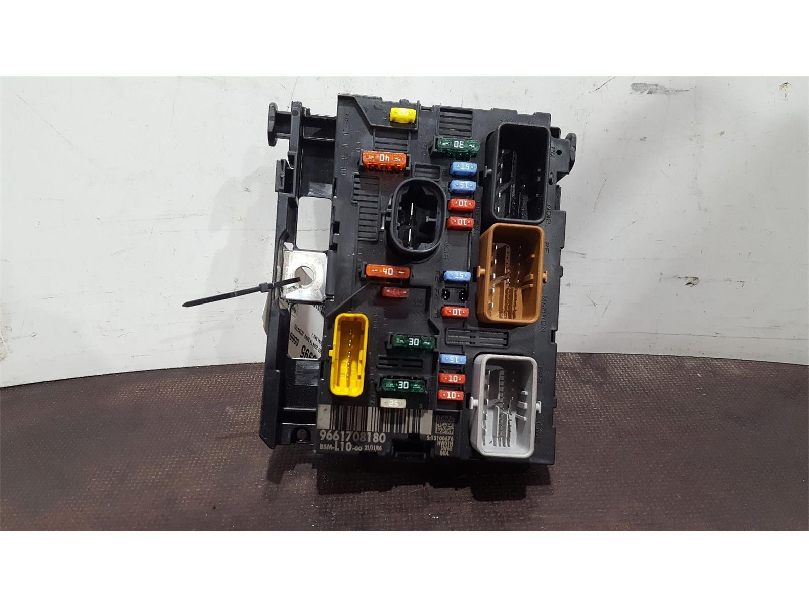 hight resolution of peugeot 207 2006 to 2009 fuse box bsi bmi bcm body control unit 9661708180