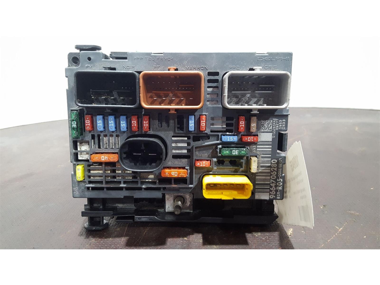 hight resolution of citroen berlingo 2008 to 2012 fuse box bsi bmi bcm body control unit 9664706280