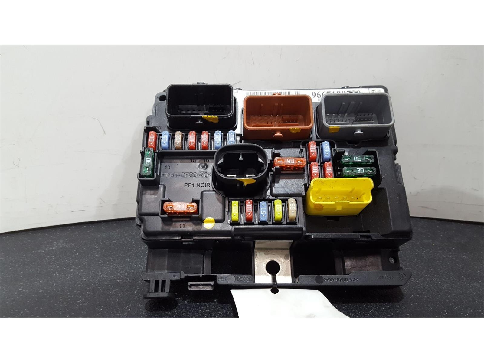hight resolution of peugeot 207 2009 on fuse box bsi bmi bcm body control unit 9667199780