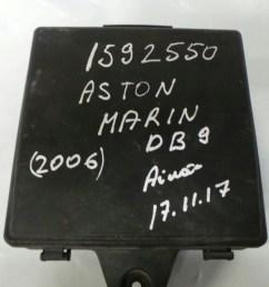 fuse box lid aston martin db9 6 0 v12 engine bay fuse box 35 way  [ 1600 x 900 Pixel ]