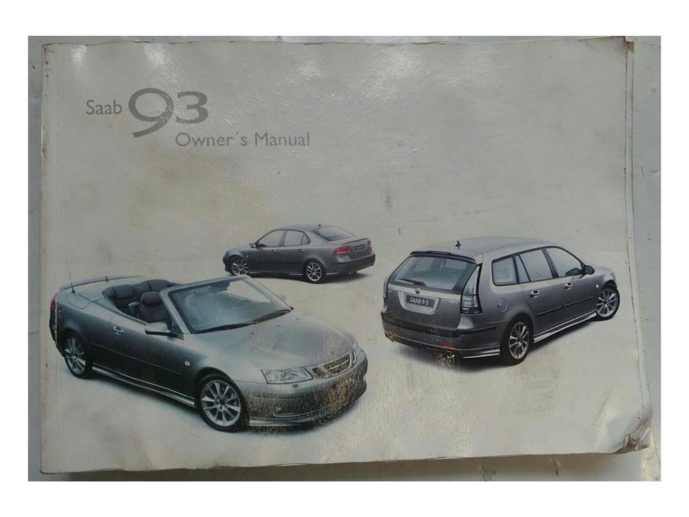 medium resolution of  saab 9 3 2003 2007 owners handbook manual wallet 7326316